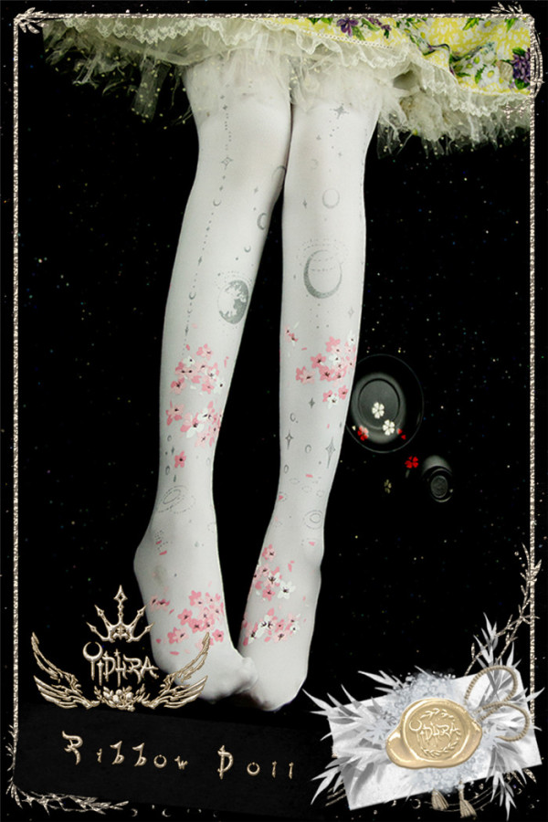 Ruby Rabbit -May Scarlet Rain- Lolita Tights for Spring and Autumn