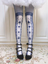 Ruby Rabbit -Poker Alice- Lolita Tights for Spring and Autumn