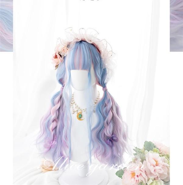 Alice Garden - Whale Dream 70cm Long Curly Wavy Pastel Rainbow Lolita Wig