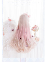 Heng Ji - 75cm Long Big Curly Wavy Pink Lolita Wig