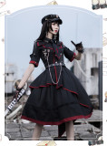 Loser Eat Dust Ouji Military Lolita OP Dress