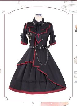 Loser Eat Dust Ouji Military Lolita OP Dress