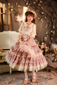 Psalm of Lyra -Daisy Blossom- Classic Vintage Lolita Skirt