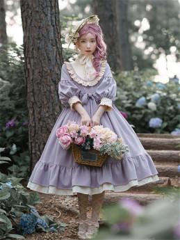 Capreolus Pygargus -Matcha Chocolate- Classic Vintage Lolita OP Dress