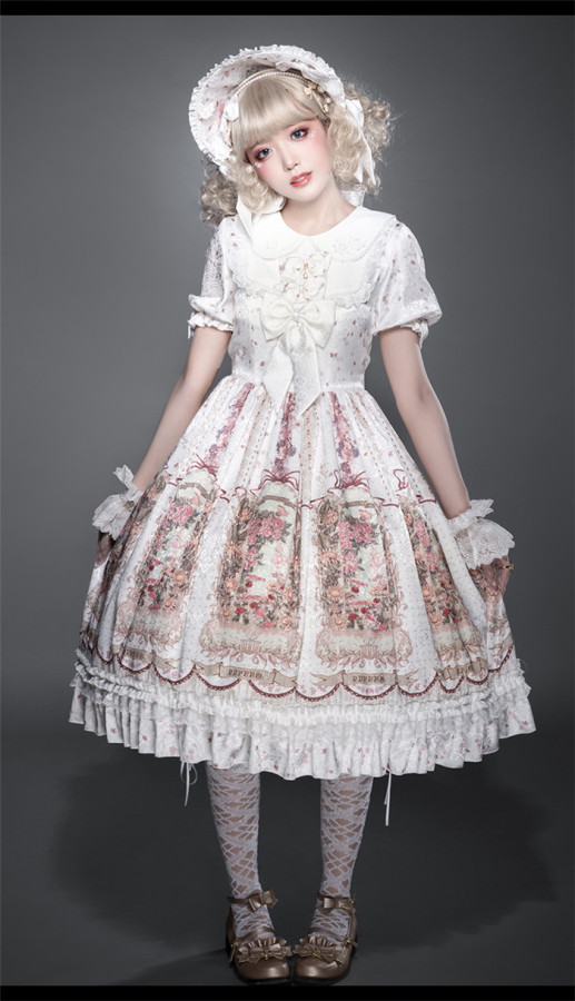 Thumblina Sweet Lolita JSK and OP Dress
