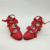 Antaina - Sweet Princess Round Toe Chunky Heel Lolita Shoes with Bows