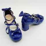 Antaina - Sweet Chunky Heel Lolita Shoes with Bows and Heart Buttons