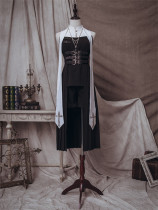 The Physics Gothic Ouji Lolita Long Jacket, Shorts and Accessories Set