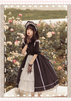 Withpuji -The Dawn- Gothic Lolita OP Dress