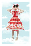 Magic Tea Party -Strawberry Sheep- Sweet Lolita OP Dress