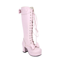 Angelic Imprint - Sweet Lolita Heel Boots with Bows