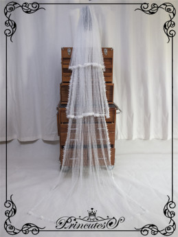 The Gemstone in Box Classic Lolita Overskirt and Veil