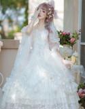 Romantic Dream Wedding Fantastic Princess Tea Party Vintage Lolita JSK Set