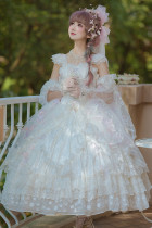 Romantic Dream Wedding Fantastic Princess Tea Party Vintage Lolita JSK Set