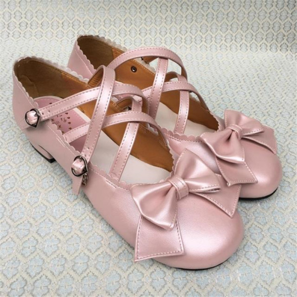 Antaina - Sweet Pink Lolita Flat Shoes