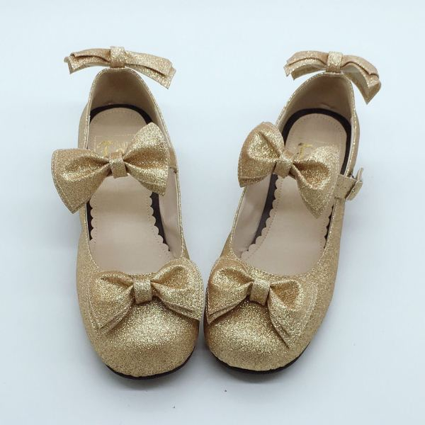 Antaina - Sweet Gold Lolita Flat Shoes
