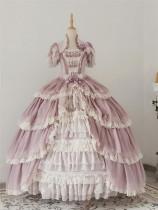 Henrietta -Looking For Butterfly- Gorgeous Classic Vintage Princess Lolita OP Dress(Long Dress Length)