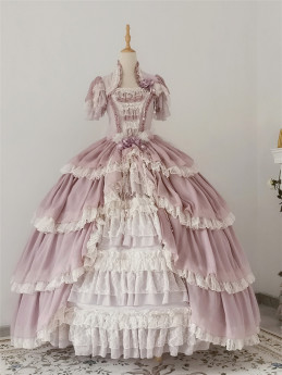 Henrietta -Looking For Butterfly- Gorgeous Classic Vintage Princess Lolita OP Dress(Long Dress Length)