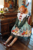 Unideer -Rabbit Kingdom- Sweet Long Sleeve Lolita OP Dress