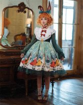 Unideer -Rabbit Kingdom- Sweet Long Sleeve Lolita OP Dress