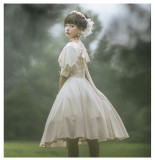 Cat Highness -Carole Manor- Classic Vintage Lolita OP Dress and Headband