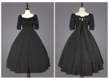 Cat Highness -Carole Manor- Classic Vintage Lolita OP Dress and Headband