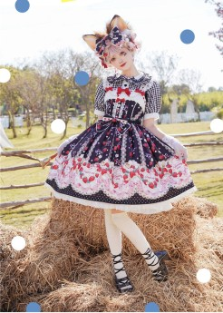 PinkyWinky -Strawberry Cream- Sweet Lolita JSK