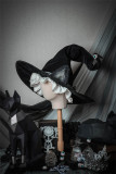 DarkRuby -Little Devil Heron- Halloween Gothic Witch Hat with Cat Ears