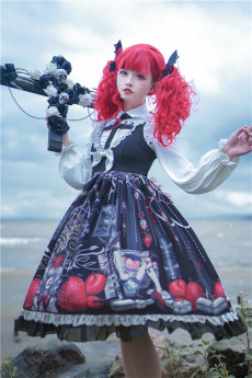 To Alice -Strawberry Vampire- Gothic Lolita Hairclips