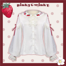 PinkyWinky -Strawberry Cream- Sweet Lolita Blouse