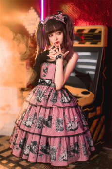 DarkRuby -Little Devil Heron- Sweet Halloween Gothic Lolita JSK