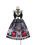 To Alice -Strawberry Vampire- Sweet Gothic Lolita JSK and Blouse