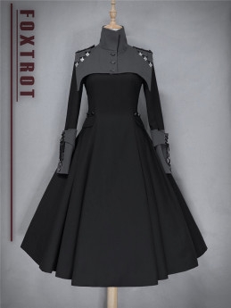 Foxtrot -The Principles- Gothic Military Ouji Lolita OP Dress