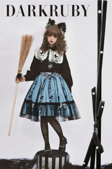 DarkRuby -Little Devil Heron- Sweet Halloween Gothic Lolita Skirt