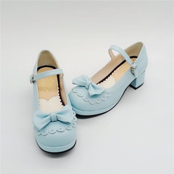 Antaina - Sweet Round Toe Chunky Heel Lolita Shoes