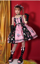 Pumpkin Cat -Creepy Sugar- Sweet Gothic Lolita JSK and Skirt