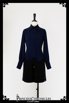 Princess Chronicles -Black and Blue- Ouji Lolita Blouse