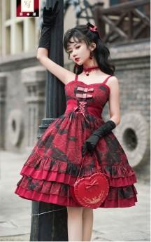 Angels Heart -Small Koi Fish- Sweet Normal Waist Lolita JSK Version II