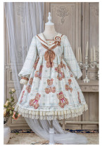 Alice Girl -Sailor Bear- Sweet Sailor Lolita OP Dress