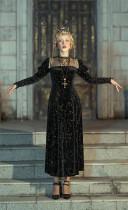 Lalaers -Tudor Night- Classic Vintage High Collar Lolita OP Dress