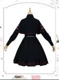 Crime Executive Ouji Military Lolita Topwear and Skirt Set