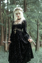 Lalaers -Tudor Night- Classic Vintage Square Neckline Lolita OP Dress