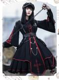 The Punisher Ouji Military Lolita OP Dress Full Set