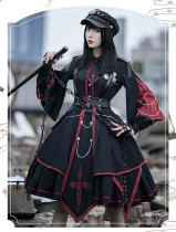 The Punisher Ouji Military Lolita OP Dress Full Set