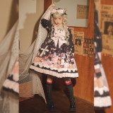Cat Can -Dessert Party- Sweet Lolita Headbow and Hairclips