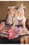 Cat Can -Dessert Party- Sweet Lolita Salopettes