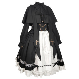 CastleToo -Discipline Inspection College- Gothic Lolita Skirt and Cape