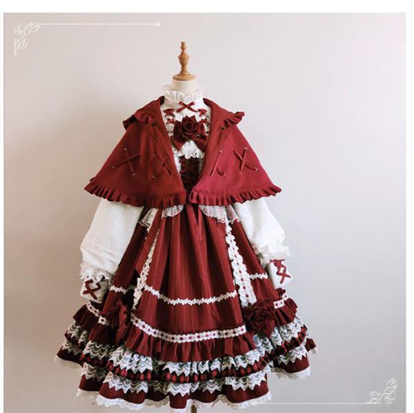 Puppet Night -Little Red Riding Hood- Sweet Lolita Full Set