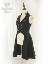 Immortal Thorn -Songs of the Moonlit- Ouji Handsome Sleeveless Lolita Long Jacket