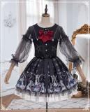 Yinluofu -Rozen Maiden- Halloween Gothic Lolita Skirt and Jacket Set